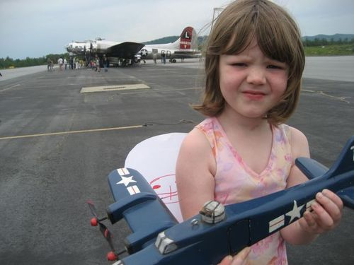 Tessie with plane