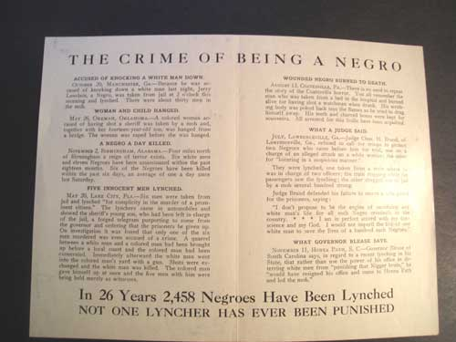 Lynching--crime-being-negro