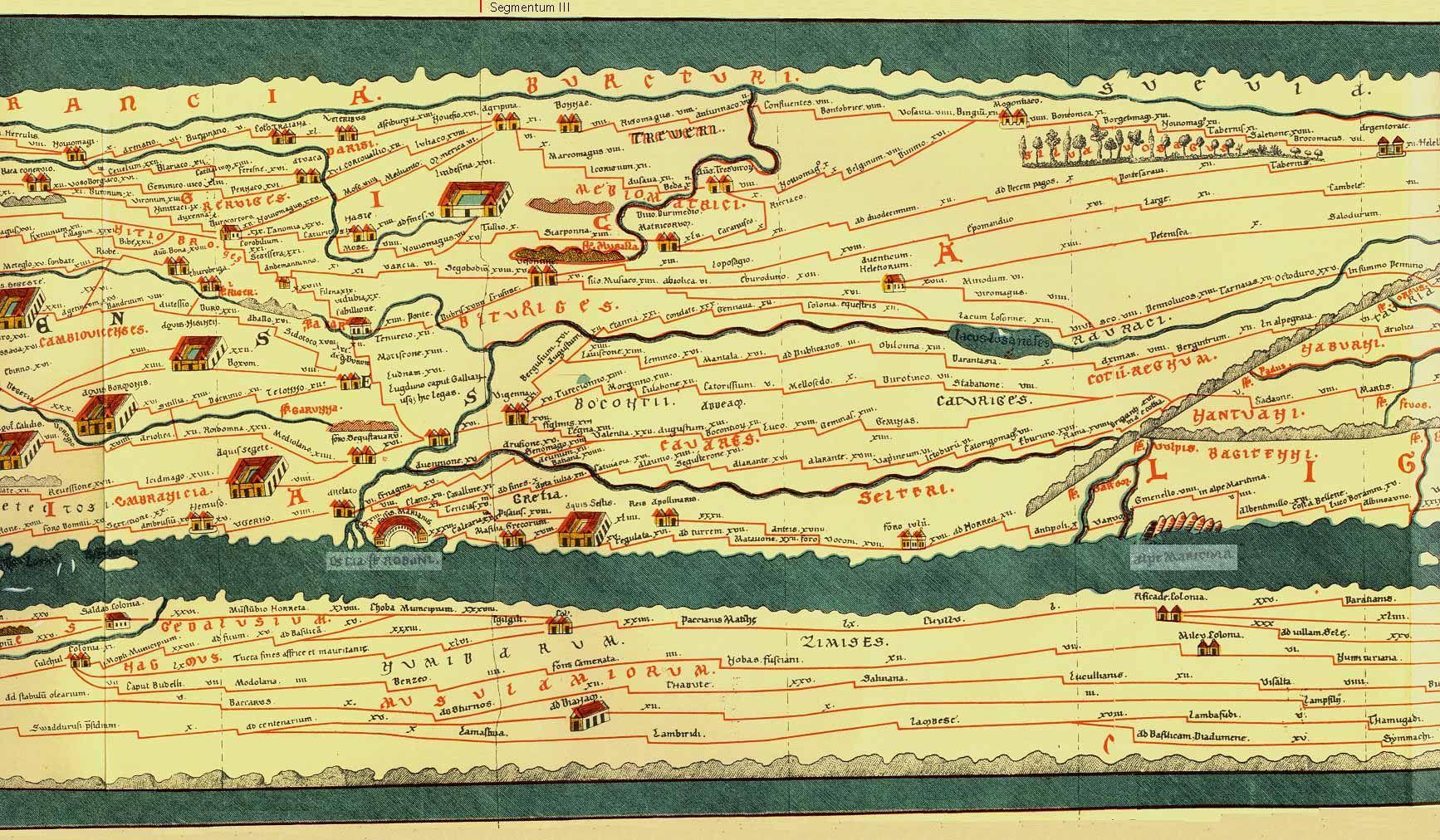 Here and There  Tabula Peutingaria