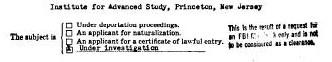 Einstein--FBI detail v 1950