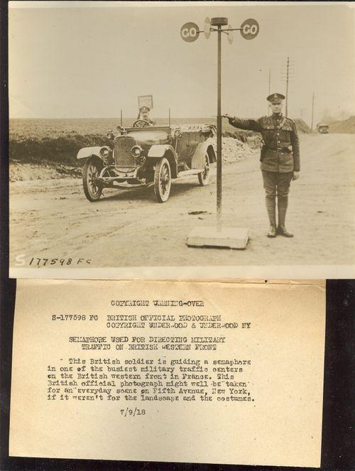 WWI photo traffic