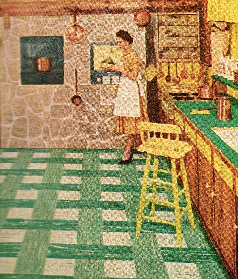 1950s Linoleum Flooring Ourcozycatcottage