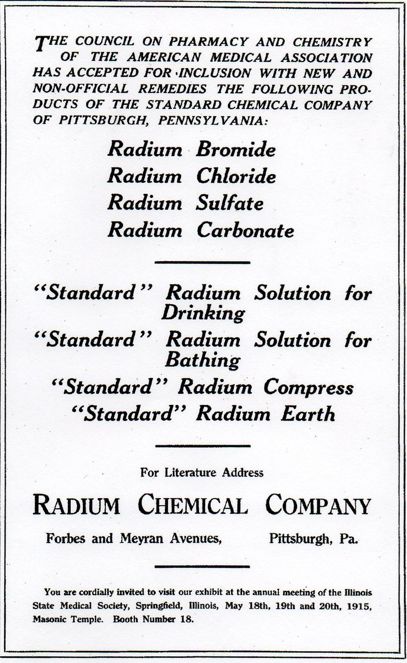 Radium chemical co385