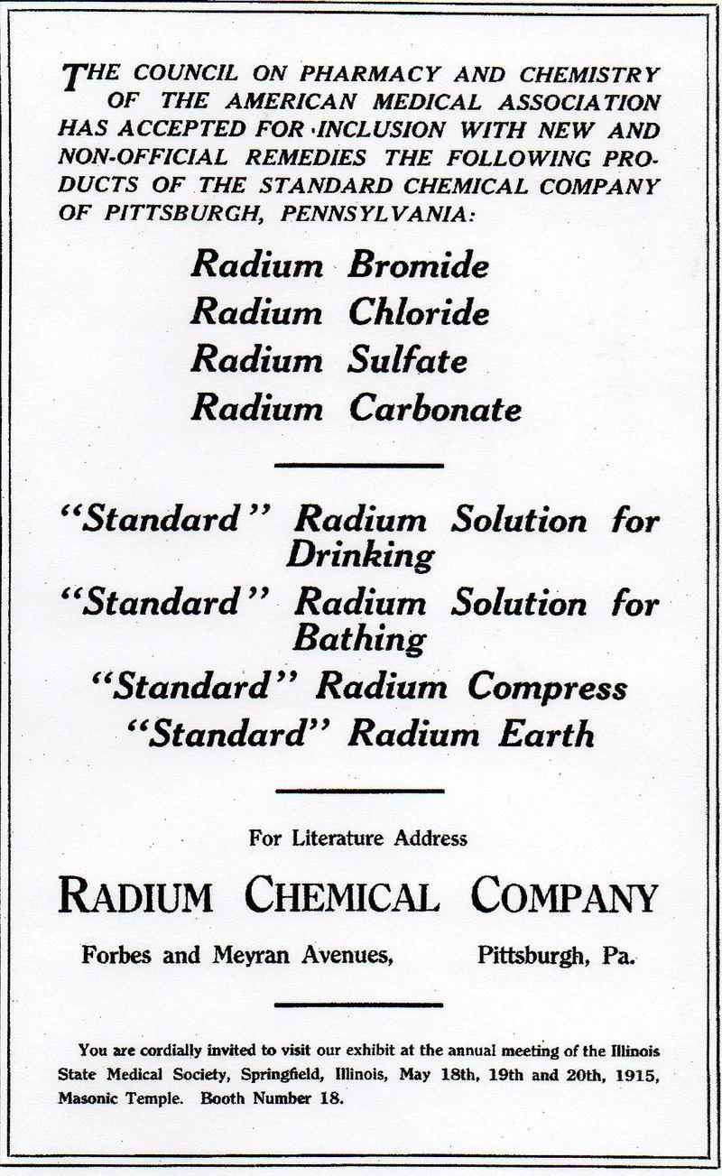 Radium chemical co385