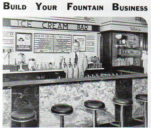 A soda fountain man stand496