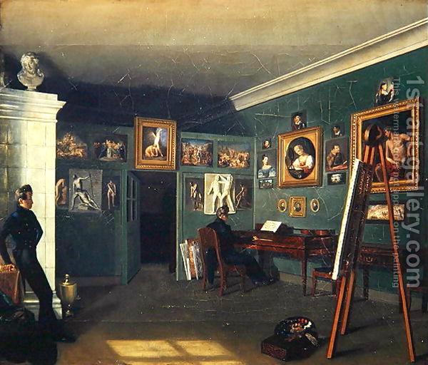 Studio--Kapiton Selentsov, 1890