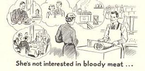 Women--bloody meat