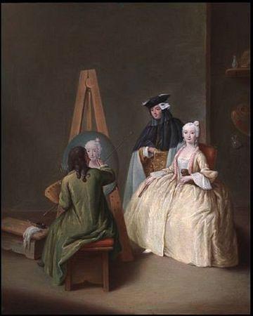 Studio--Pietro Longhi (Italian, 1702-1785).