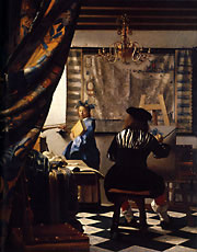Studio.Johannes Vermeer (Dutch, 1632-1675), Allegory of Painting (The Painter in His Studio),