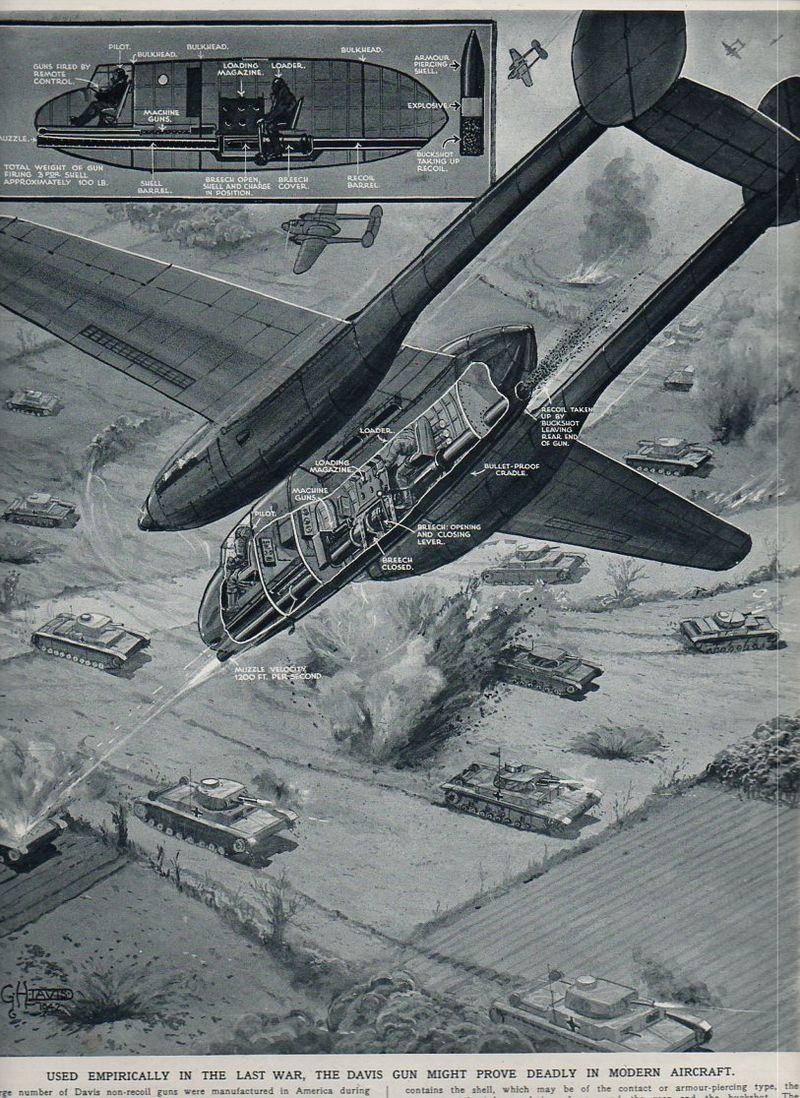 Aircraft x section--davis recoil848