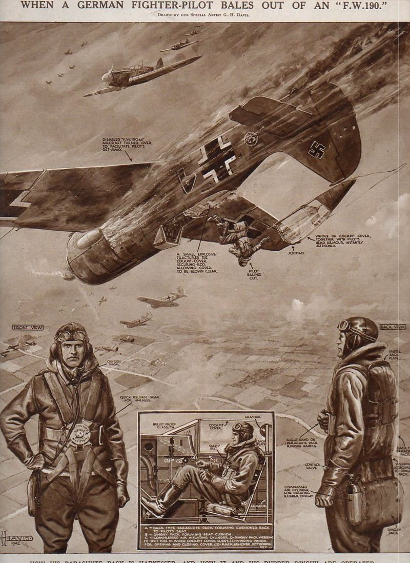 Aircraft x section-german parachute850