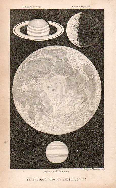 Circles-Moon and saturn907
