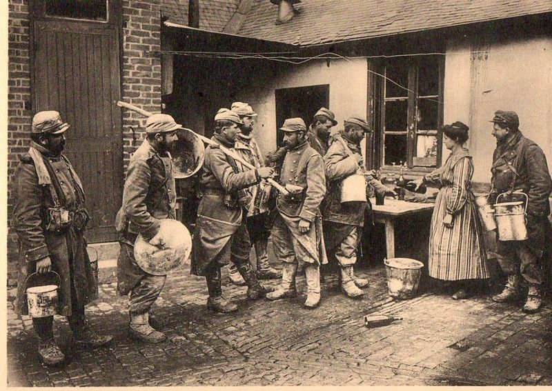 WWI photogravure--group gettg drnk055