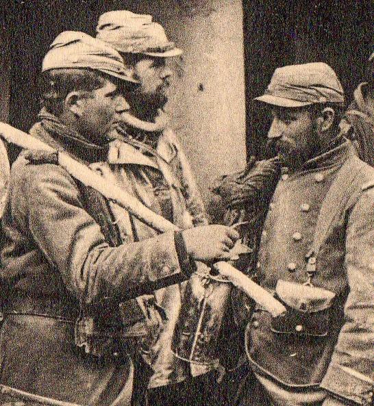 WWI photogravure--group gettg drnk det056