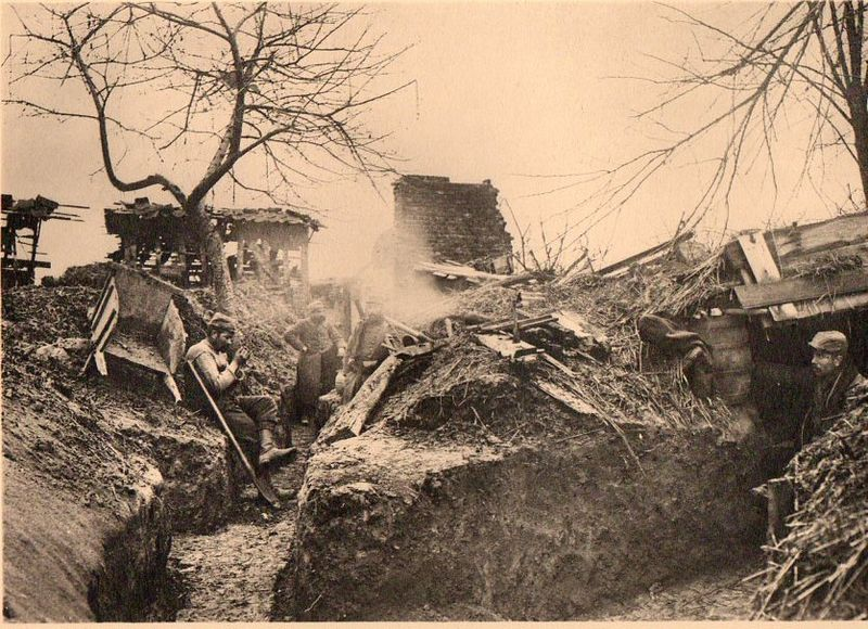 WWI photogravure--trench life 058