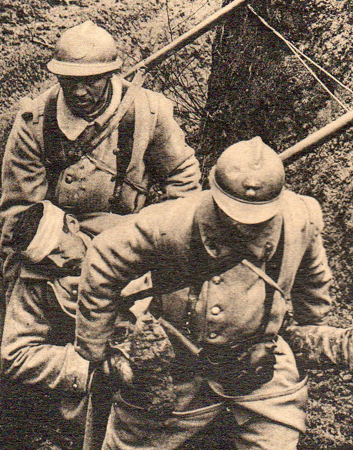 WWI photogravure--trench wounded det051