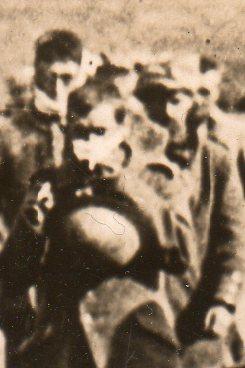 WWI--German prisoners--marching 332