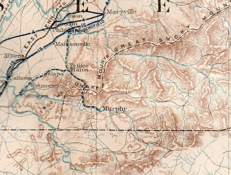 Civil war--mil map sherman asheville189