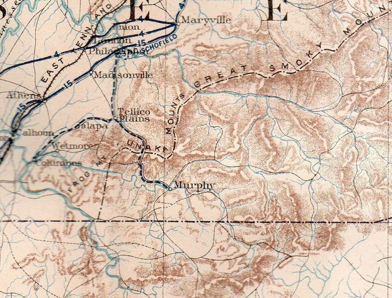 Civil war--mil map sherman asheville189