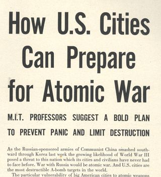 Atomic city plan war