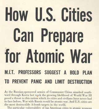 Atomic city plan war