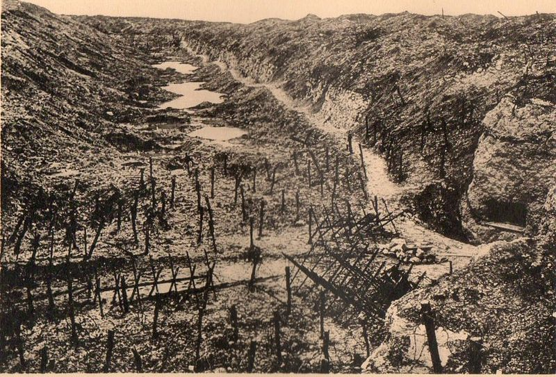 WWI photogravure--trench empty062