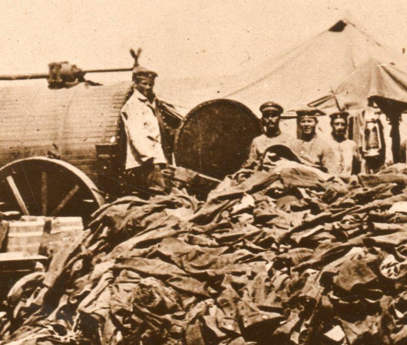 World War I photos--empty uniforms detb290