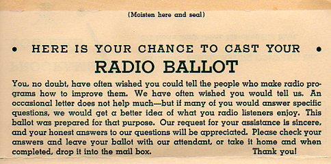 Radio Ballot a321