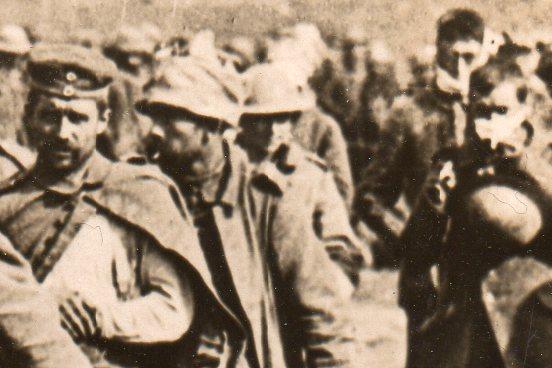 WWI--German prisoners--marching 331