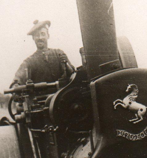 WWI--steamroller detail smile336