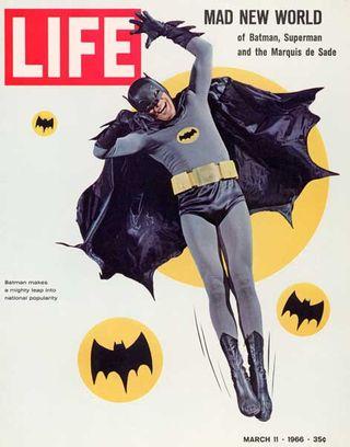 Leaning batman