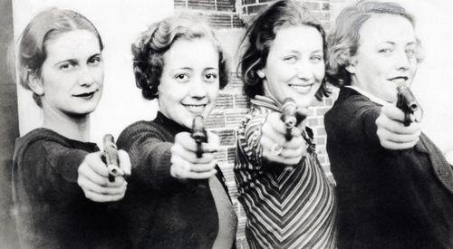 Women with pistols