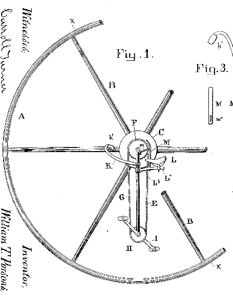 Patents unicycle detail