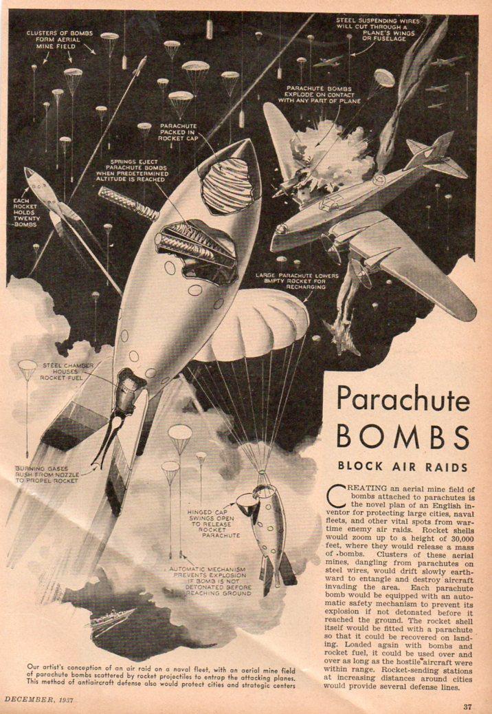 Parachute bomb453