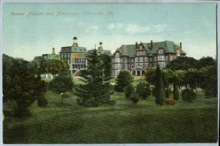 Insane asylum postcard  pennsylvania