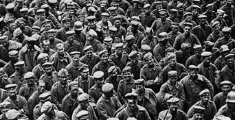 Wwi photo german mass prisoner det