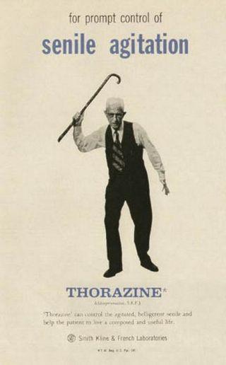 Ads--thorazine  senile