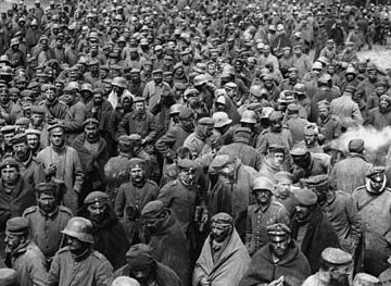 Wwi  german prisoners large group det
