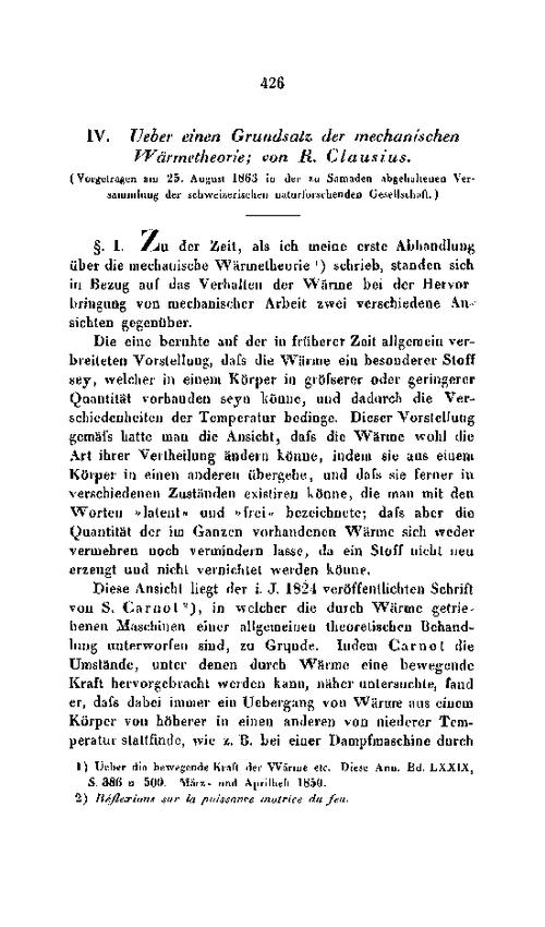 Clausius 1863