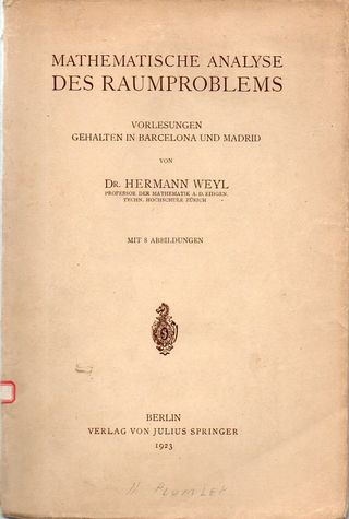 Weyl raumproblems355