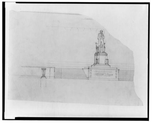 Lincoln  statue plinth