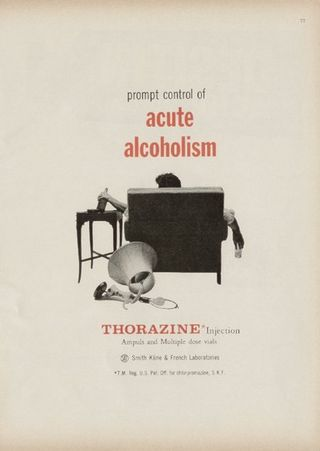 Ads--thorazine alcoholism