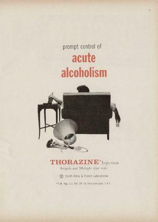 Ads--thorazine alcoholism