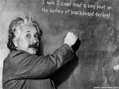 Einstein chalkboard