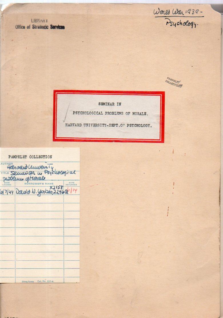 JF Ptak Science Books The Earliest Psychological Report on Adolf – Psychological Report