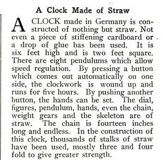 Clock straw text