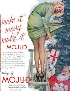 Christmas ads bad legs detail