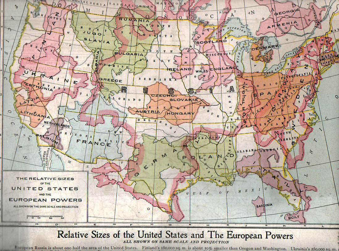 JF Ptak Science Books Thematic Maps Finding Russia In The US - Map us midwest