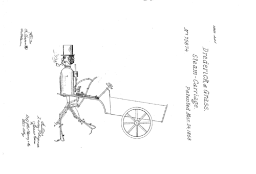 Mechancal man--steam man patent