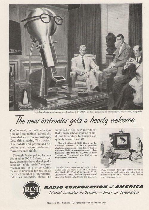 Robot--electron micrscope